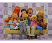 Familie op de bank